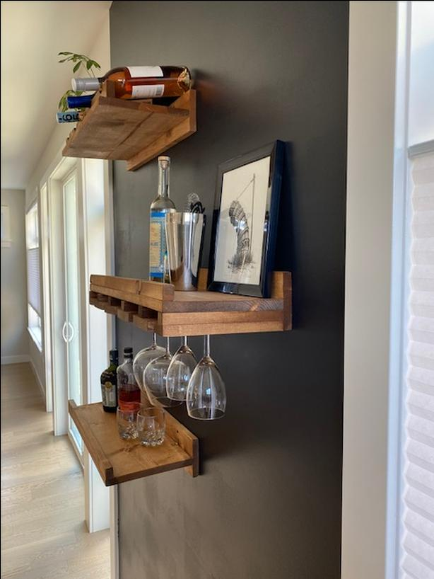 Glass Rack/Floating Shelves by Union Rustic