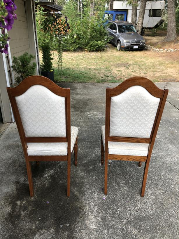 FREE: 5 Oak Dining Chairs