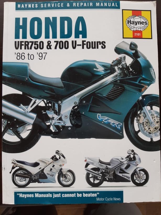 Honda VFR750 Repair Manual (Haynes) 86-97