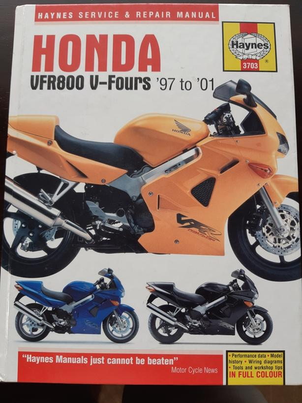 Honda VFR800 Repair Manual (Haynes) 97-01