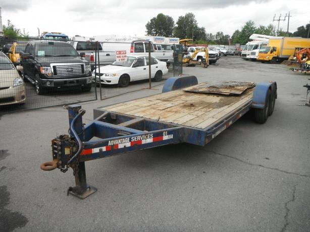 2001 Trailtech Flat Deck Trailer Pintle Hitch