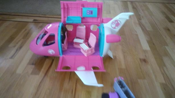 LIKE NEW - BARBIE JET PLANE WITH ACCESSORIES