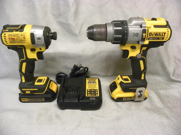 #174700-4 Dewalt 20V XR Brushless hammer drill and Impactor