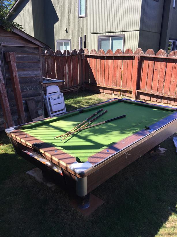 Free pool table!