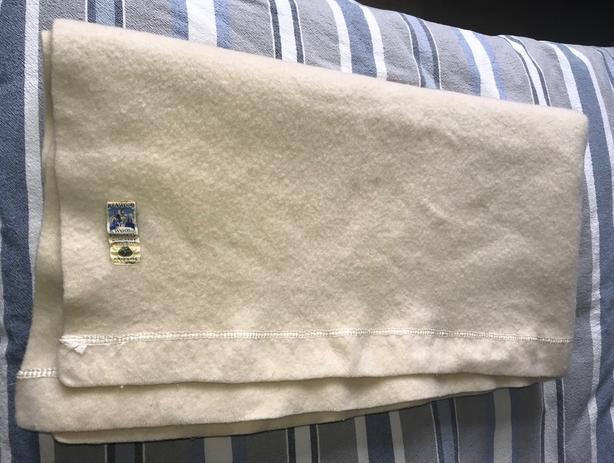 Vintage Kenwood 100% Wool Blanket