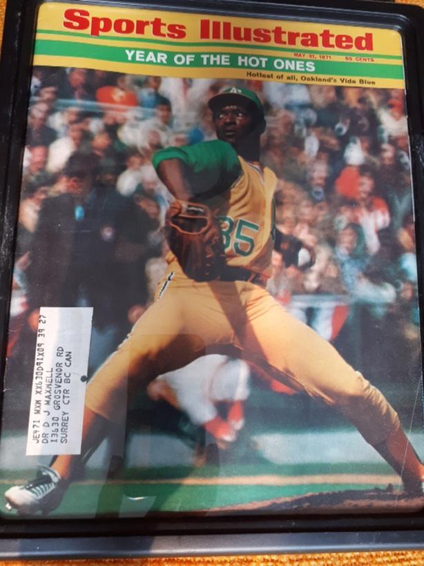 Vida Blue Sports Illustrated 1971