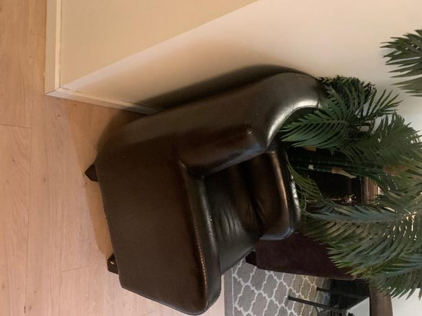 FREE: black leather chair