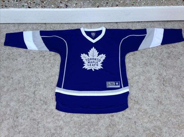 Hockey Jersey Child Size Lg - X Large Toronto Maple Leafs Blue  New Demo Model