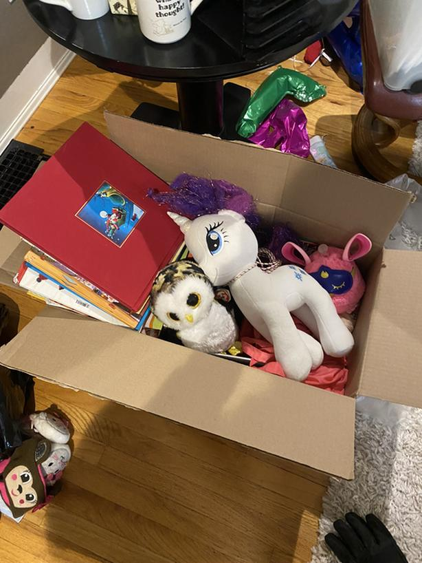 FREE: big box of girls books and toys