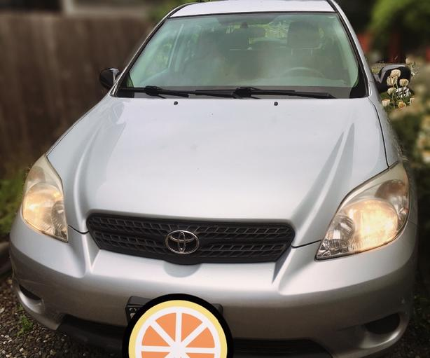 2007 Silver Toyota Matrix, 96700 kms, one owner
