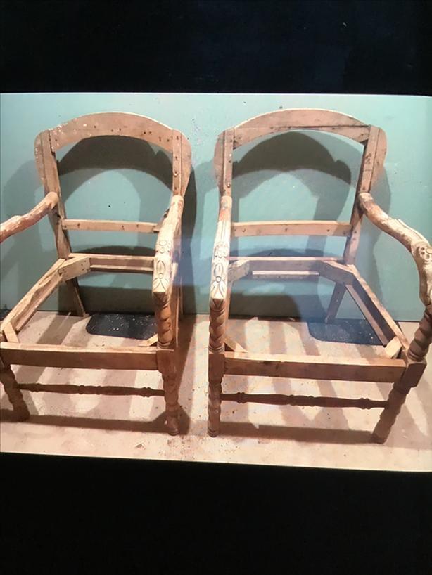 Antique chair frames