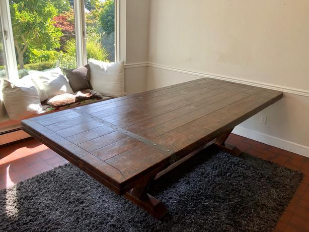 Castle-style, Rustic XXL Dining Table, Dark Wood