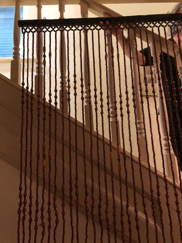 Beaded Curtain wooden