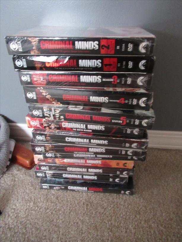 "Brand new CRIMINAL MINDS DVD""S- seasons 1-13- sell each"