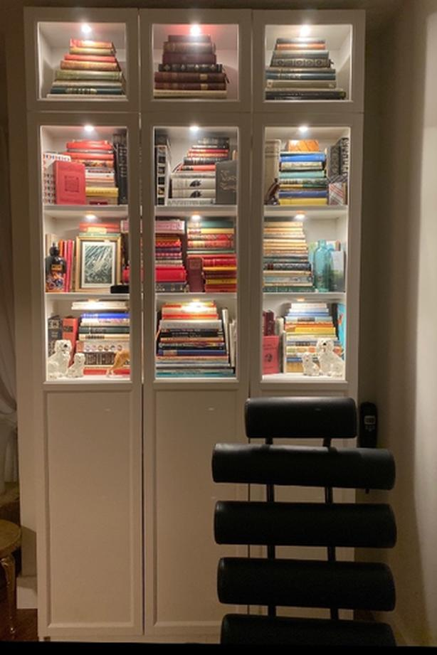IKEA Billy Oxberg Bookcase with Lights