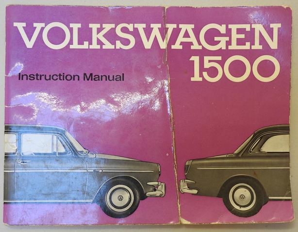 1963 Volkswagen 1500 Instruction Manual