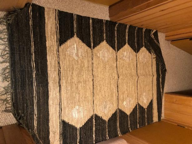 leather weave rug