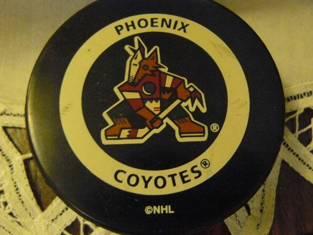 vintage arizona coyotes hockey puck