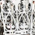 Decorative metal garden fence decor