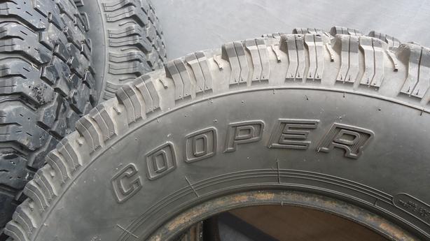 Cooper Tires - size 30 x 9.50/R15 LT