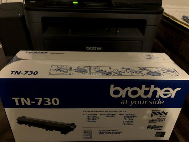 Printer with 1 1/2 toner