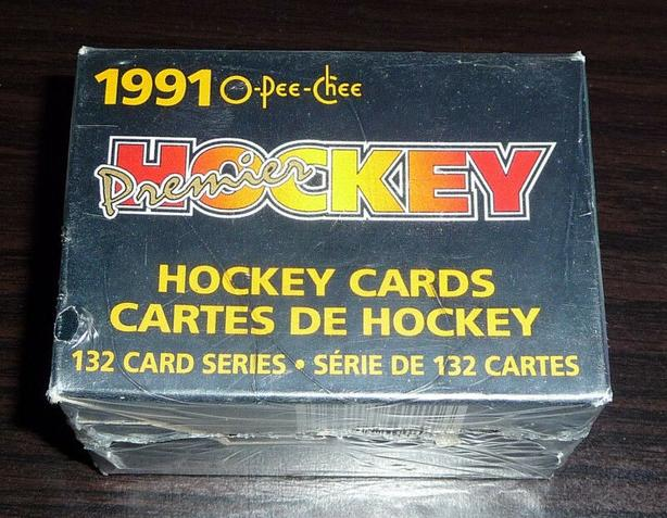 1990-91 O Pee-Chee Premier NHL Hockey Card Factory Sealed Set