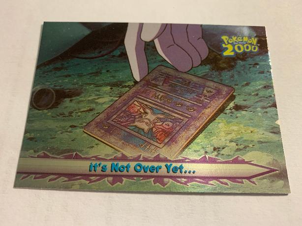 Topps Pokemon 2000 movie card# 70 RAREST Foil: It's not over yet