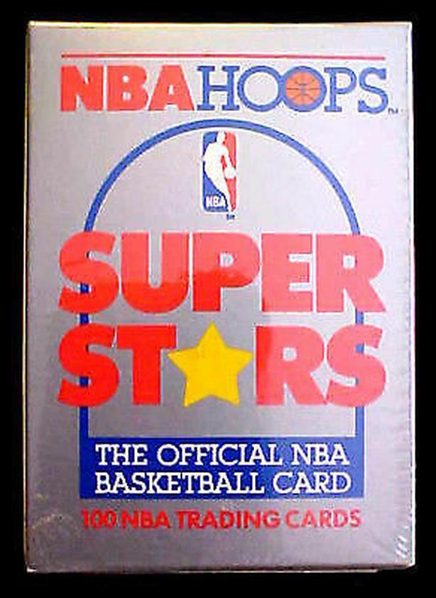 1989/90 Hoops NBA SUPER STARS (100 Cards) FACTORY SEALED SET MT.