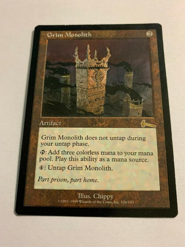 Grim Monolith Urza's Legacy Artifact Rare Reserved List MTG CARD