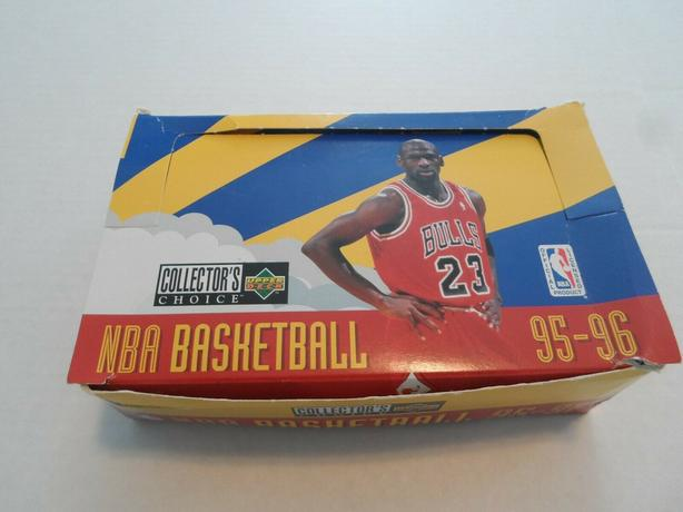 95-96 UD COLLECTOR CHOICE EUROPEAN BOX MICHAEL JORDAN STICKER