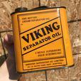 RARE 1930's VINTAGE VIKING SEPARATOR OIL IMPERIAL QUART CAN