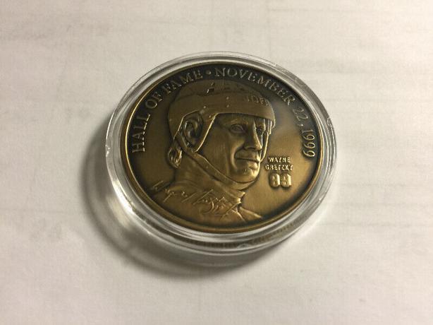 Wayne Gretzky Hall of Fame Nov.22 1999 Ret. Bronze Medallion