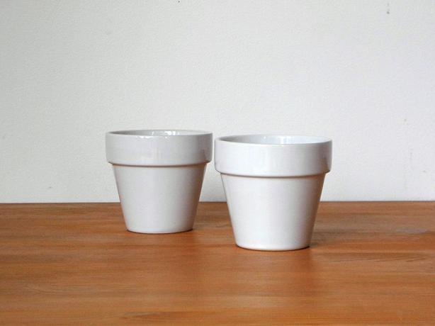 Glazed Ceramic Plant Planter Pot (Set of 2)