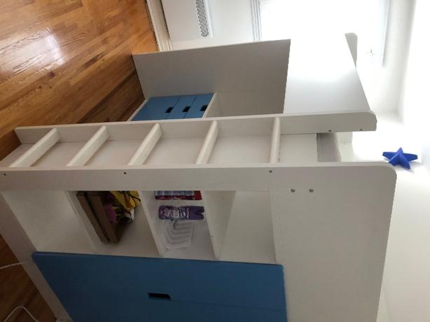 Children's bed desk shelf and wardrobe for sale
