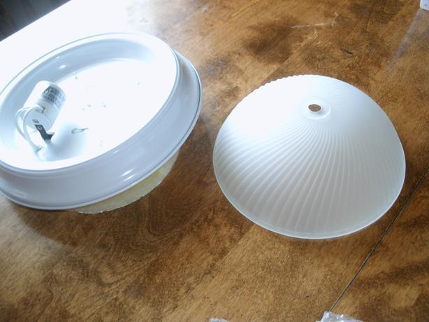 New white-finish flush mount light