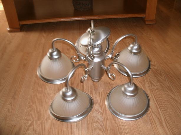 grey/silver chandelier