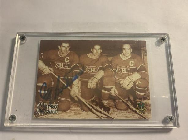 Maurice Richard Canadians Signed 1991-92 Pro Set Card #337