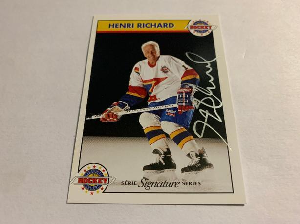1992 Zellers Hockey Sign Card # 16 Henri Richard #558 of 1000