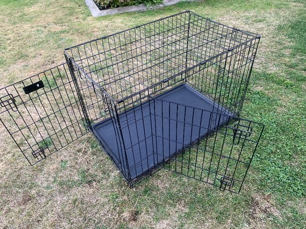 large and x-large folding double door pet crate kennel cage