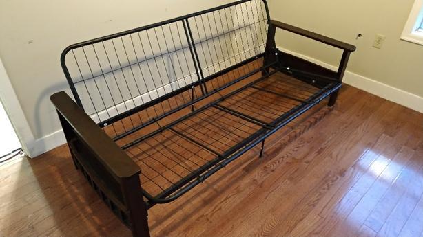 FREE: excellent shape futon Frame. No pieces missing.