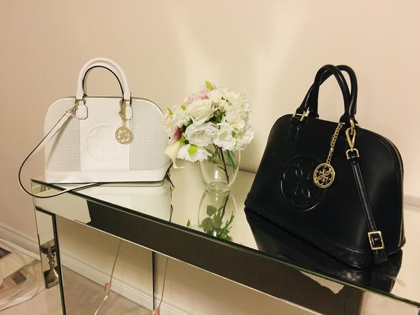 White and Black Guess Purses - must go!!!