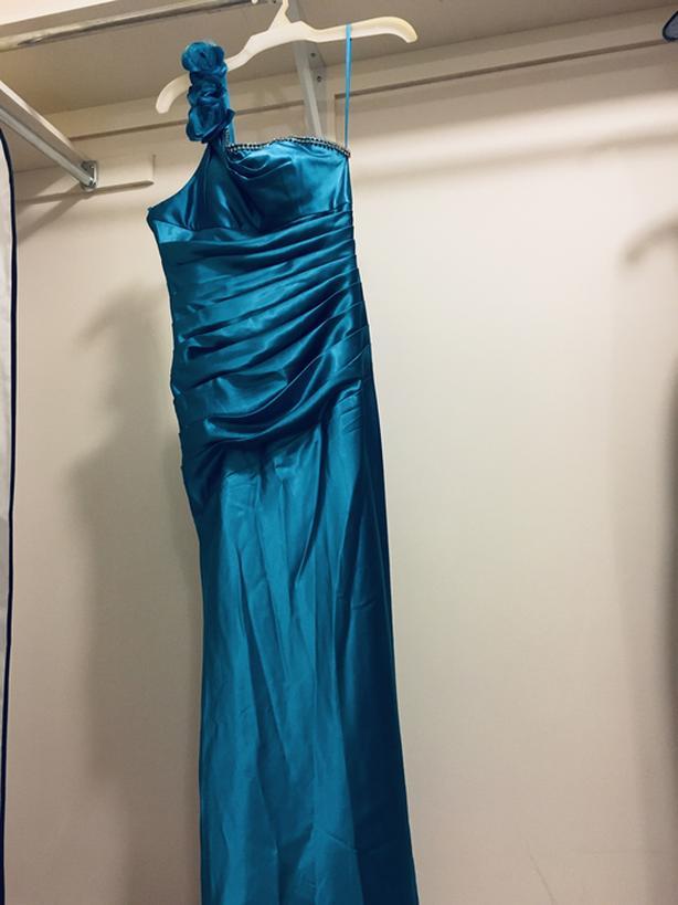 Silk Blue Dress - size 6/M