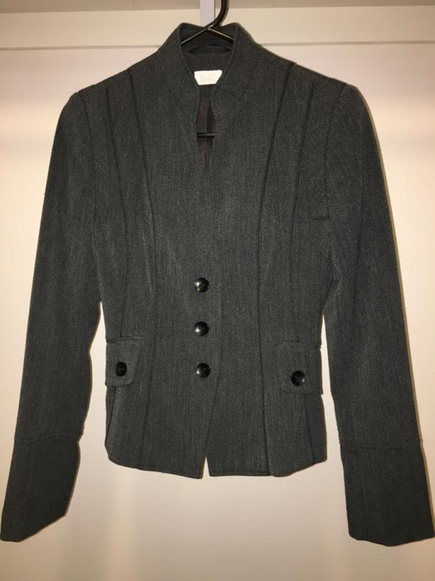 Gray Wool Blazer - size 4/Small