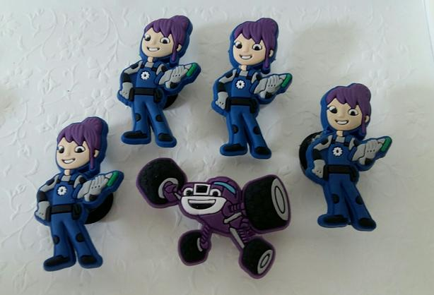 Girls Monster Truck Shoe Charms or Magnets