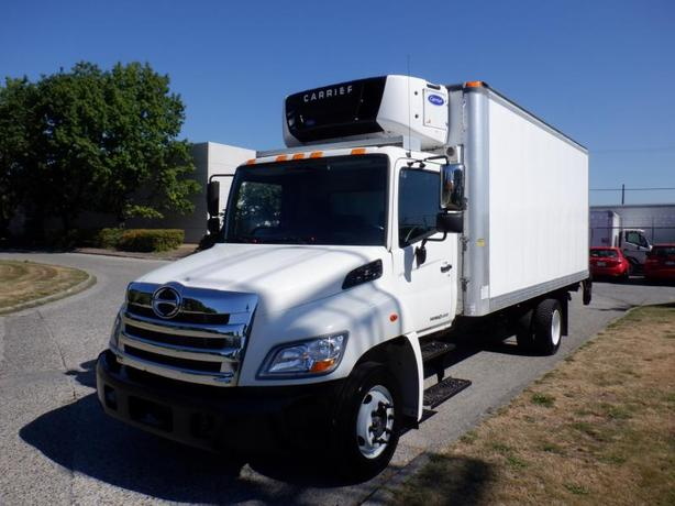 2013 Hino 258 18 Foot Reefer Cube Van Diesel with Power Tailgate