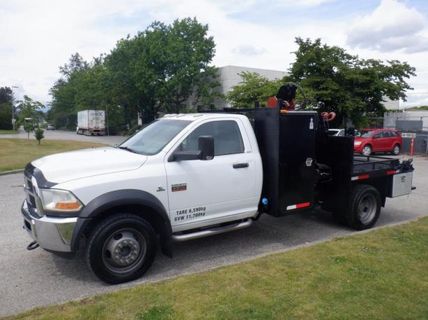 2011 Dodge Ram 4500 Flat Deck 6 foot with Crane  4WD Diesel