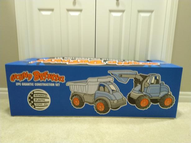 2 toy construction trucks for kids (for age 2+)