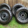 Studded tires and rims x 4