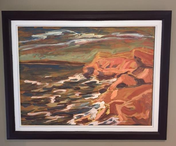 Early Elaine Harrison original painting