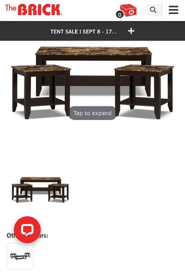 coffee table set 3 piece
